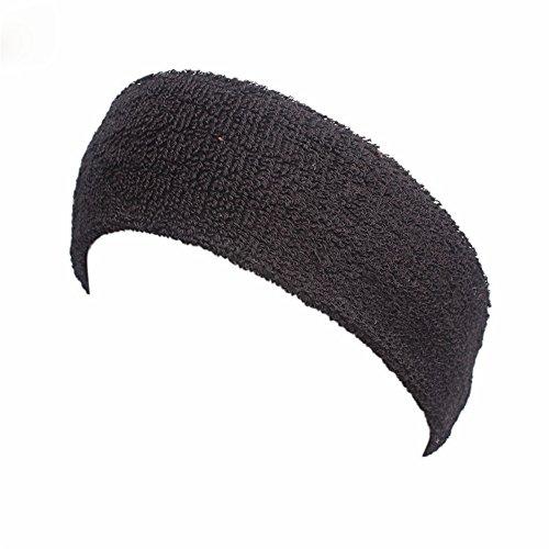 Fashionshao Thicken sport haarband katoen badstof hoofd met zweet band