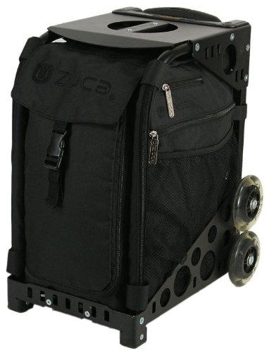 ZUCA sibs236deporte Insertar Bolsa Stealth negro logotipo bordado en negro/89055900236
