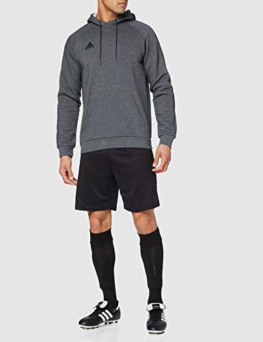 Adidas CORE18 Hoody Sudadera con Capucha, Hombre, Gris (Gris/Negro), L