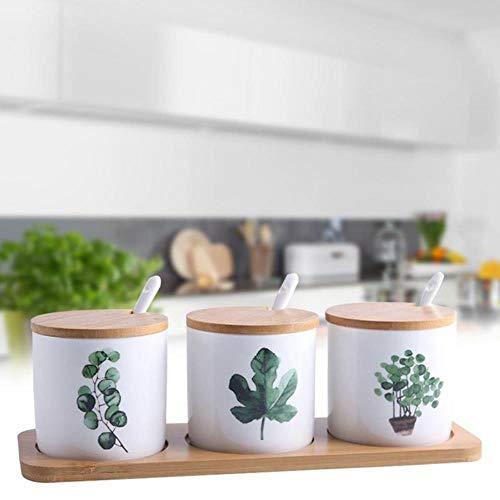 3 stks/set Keramische Kruiden Fles Set Saus Snack Potten Nordic Innovatieve Thuis Groene Planten Kruiden Doos Keuken Benodigdheden, Wit