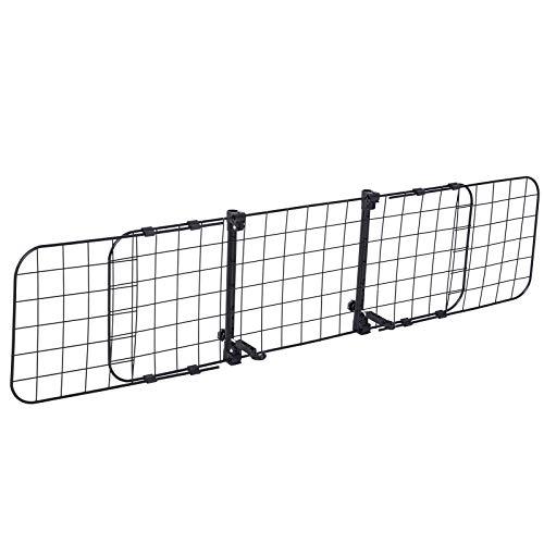 Pawhut Barriera Divisore di Protezione Macchina per Cani Regolabile 91-145x30cm