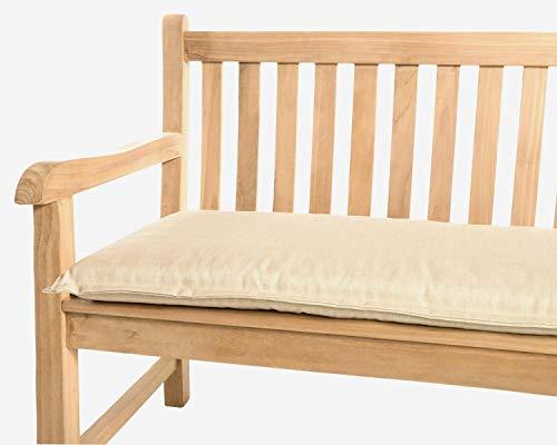 Kettler Polen KETTtex 2081 Auflage Gartenbank Florence 120x50x6 cm beige waschbarer Bezug Sitzpolster