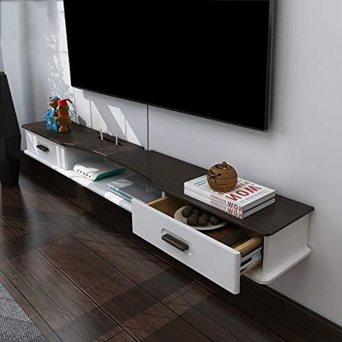 TLMYDD Mueble de TV Set-Top Box Estante Sala de Estar TV Pared de Fondo Marco de Pared Colgando Dormitorio decoración de la Pared Estante de Almacenamiento Estante