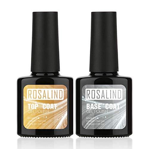 ROSALIND Gel Nagellack UV Base und Top Coat Gellack Überlack Unterlack Soak Off Semi Permanent...