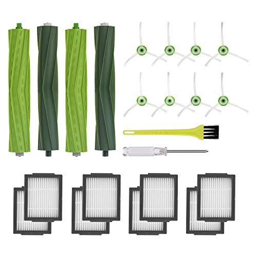Jajadeal Repuestos de Accesorios para iRobot Roomba i7 i7+ / i7 Plus E5 E6 E7 Serie Aspiradora, Kits de Reemplazo de Filtro y Cepillo (Kit 2)
