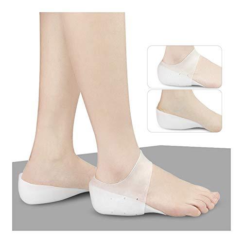 Plantillas Para Zapatos Desodorante Suela 1 par Aumentar la plantilla invisible, altura de elevación de gel de silicona suave y transpirable talón del cojín del calcetín Liners aliviar el dolor for la