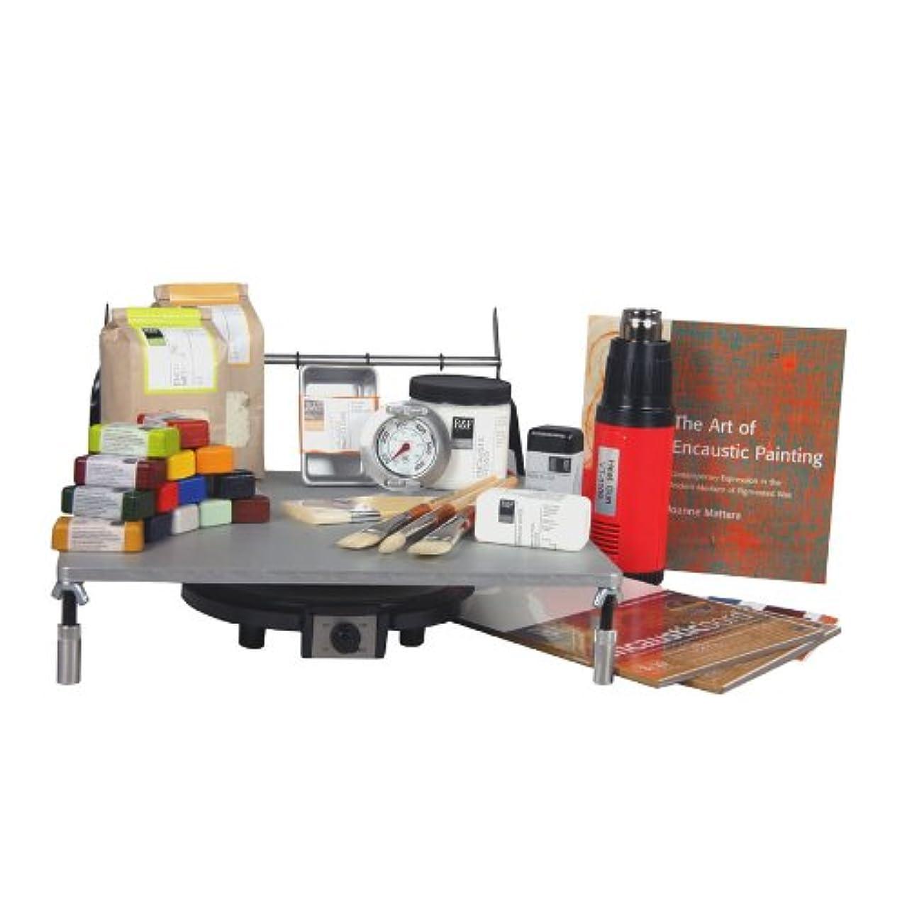 R&F Handmade Paints Encaustic Painting Studio Startup Set