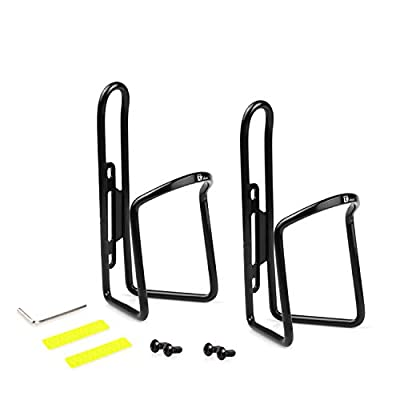 Tiekoun Bike Water Bottle Holder Cage 2 Pack, Adjustable Size Lightweight for Cycling Fits Any Bike with Easy Installation, Jt04