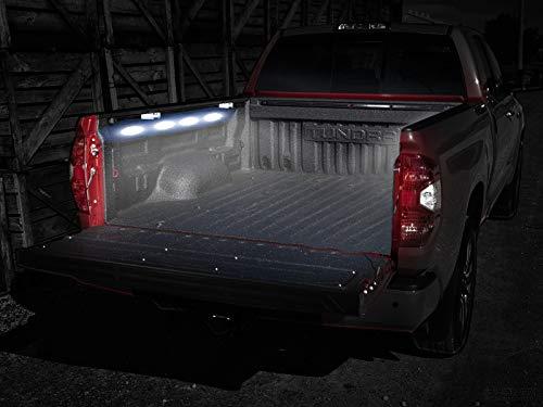 2 Years Warranty Nilight TR-08 Rail 8PCS 24LED Cargo Truck Pickup Bed Off Road Under Car Side Marker LED Rock Lighting Kit w//Switch White