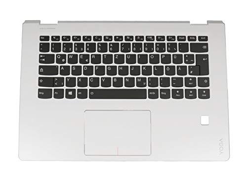 Lenovo Yoga 510-14AST (80S9) Original Tastatur inkl. Topcase DE (deutsch) schwarz/weiß mit Backlight mit Aussparung für Fingerprint-Reader