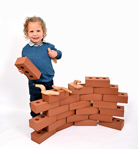 Playlearn Life Size Foam Construction Building Blocks/Bricks Toy Role Play Realistic (Pack of 50)