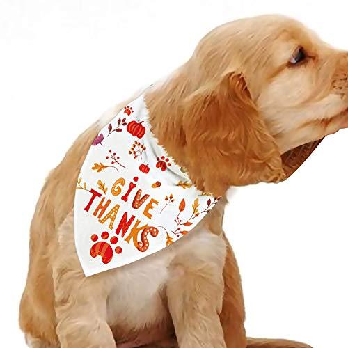 Blue Leaves Dog Thanksgiving Bandana, Dog Photo Prop, Dog Scarf for Small Medium Larg,Dog Gift, Pet Gift, Dog Accessories (1P)