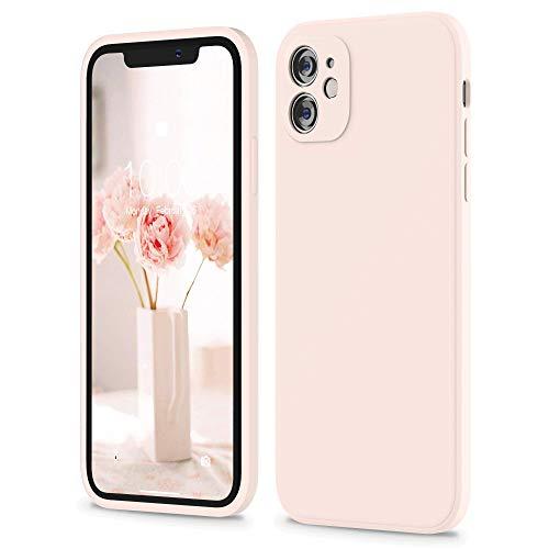 """SURPHY Cover Compatibile con iPhone 11, Custodia in Silicone per iPhone 11 Cover Antiurto con Protezione Individuale per Ogni Lente, Full Body Protettiva Case per iPhone 11 6.1"""" (2019), Rosa Chiaro"""