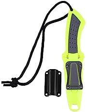 Cuchillo de Buceo de Acero Inoxidable Cuchillo de Buceo Profesional Cuchillo de Buceo Profesional Accesorios para buceadores con Mango ergonómico cómodo de agarrar