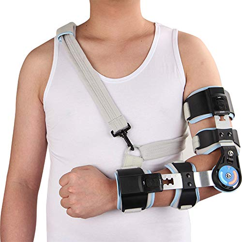 WY-Elbow Cabestrillo Brazo con bisagras | Vendaje neuromuscular - Coderas para tendinitis - Inmovilizador de Brazo - Prevención de Codo y postoperatorio Inmovilizador de Brazo,Left
