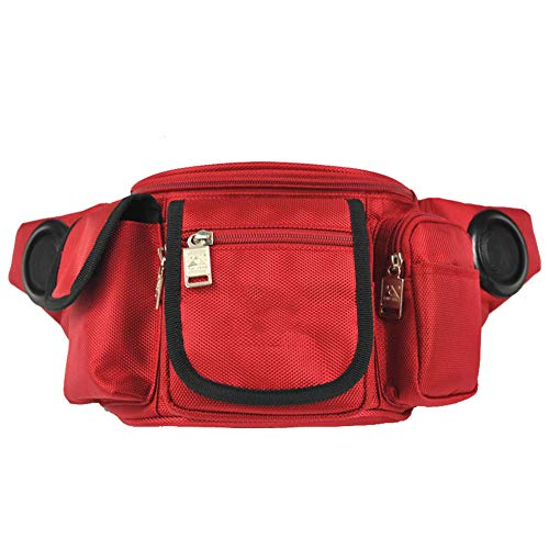 Outdoor Music Pockets, Multifunctional Oblique Bag, Shoulder Bag, Running Sports, Riding Pockets, Built-In Music,Red