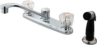 "Kingston Brass KB112 Americana Kitchen Faucet with Side Sprayer, 7-5/8"", Polished Chrome"