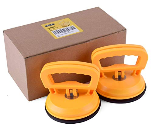 IMT 4.9' Glass Suction Cup Tiles Window Lifter 2 Pack, Power Grip Vacuum Lifter for Glass/Tiles/Mirror/Granite Lifting
