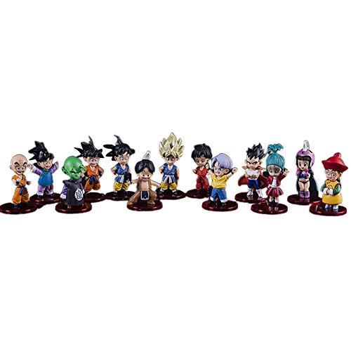 SGOT Dragonball Figur Set, 13 Stück Anime Frieza/Vegeta/Son Goku Figur, PVC Spielzeug Statue, Dragon Ball Z Vinylfigur Actionfigur Sammelfigur 8cm