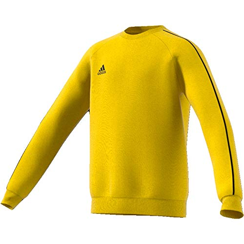 adidas Kinder Core 18 Sweat Top Sweatshirt, yellow/Black, XL (Manufacturer size:164)