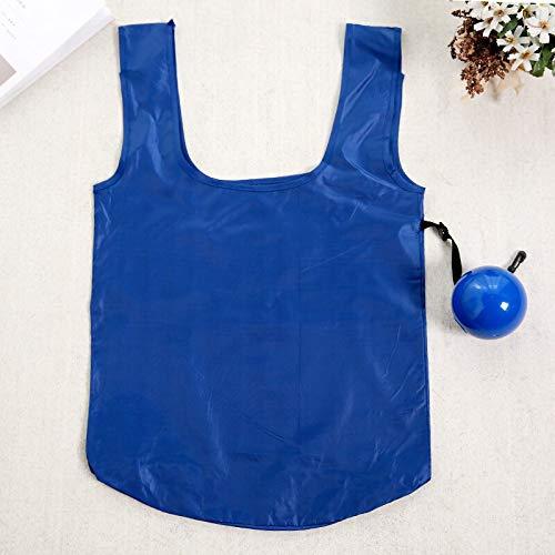 HFLON Bolso De Compras Reciclable De Plástico Creativo Bolsas De Almacenamiento De Gran Capacidad Bolso De Supermercado Plegable De Bola De Gel De SíliceAzul