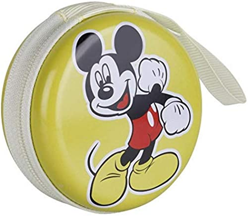 Men s Women s Mickey Mouse Zipper Round Purse Wallet Pouch Bag Key Holder for Headphones Coin