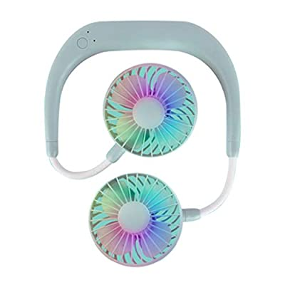 FAMOORE Colorful Hands-Free Neckband Fan,Hand F...