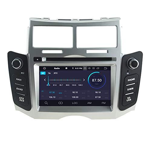 Autosion Android 9.0 Go de mémoire RAM lecteur DVD de voiture GPS Radio Navigation Autoradio stéréo Wifi pour Toyota Yaris 2005 2006 2007 2008 2009 2010 2011 4+64GB