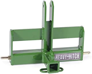 Category 0, 3 Point Hitch Receiver Drawbar with Suitcase Weight Bracket Kit - Green
