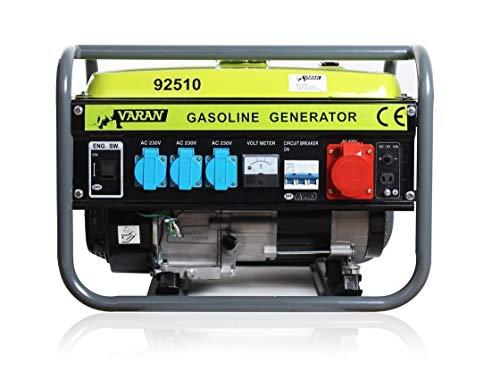 Varan Motors - 92510 Benzin Stromerzeuger 2,3 kVA 1x 400V 3x 230V 1x 12VDC Elektrischer Generator