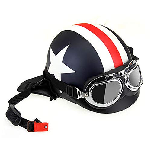 ZHONGST Casco De Moto Harley Casco De Seguridad para Hombre Y Mujer Verano Medio Casco Protector UV Protección
