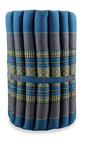 livasia KAPOK ROLLMATTE S, Thaikissen der Marke Asia Wohnstudio, hellblau, Kapok Dreieckskissen, asiatisches Sitzkissen, Liegematte, Thaimatte (Rollmatte S)