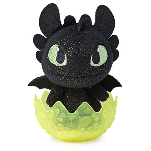 Dreamworks Dragons 6054907 Legends Evolved, Baby Wild Gronckle 7,5 cm Plüsch, Plüschdrache im Ei zum Sammeln, Multicolour