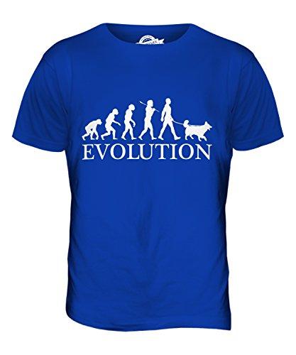 Candymix Belgischer Schäferhund Evolution des Menschen Und Hund Herren T Shirt, Größe 5X-Large, Farbe Königsblau