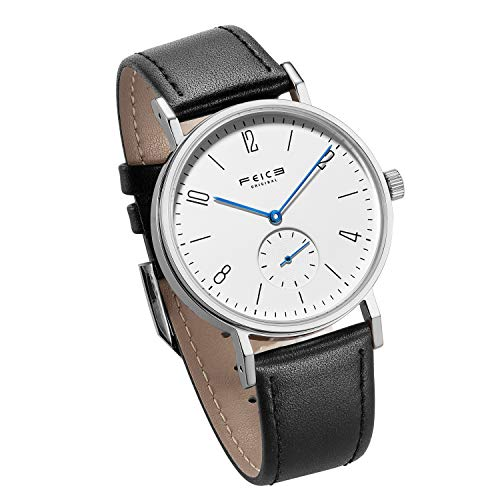 Bauhaus Watch Men's Automatic Watch FEICE Mechanical Wristwatch Minimalist Stainless Steel Leather Band Casual Dress Watches for Women Unisex #FM201