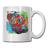 maichengxuan Jean Michel Basquiat Best Fathers Day Ideas para tazas de café, divertido regalo de Navidad, taza de bebida de personalidad, 11 oz blanco YDI5LZ