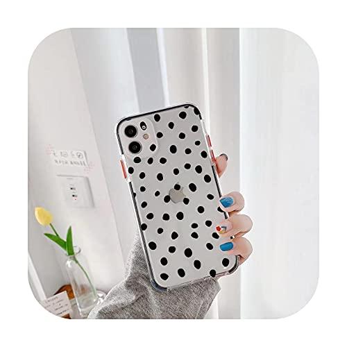 Lujo lindo pequeño caso para el iPhone 11 Pro Max X XR XS Max 7 8 Plus transparente a prueba de golpes lunares teléfono cubierta trasera estilo1-para iPhone 11Pro Max