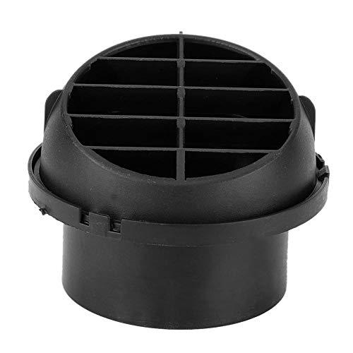 Qiilu Standkachel Outlet Cover, Gloednieuwe Zwarte 76mm Draaibare Luchtuitlaat Ventilatie Grille Cover Heater Air Vent Cover