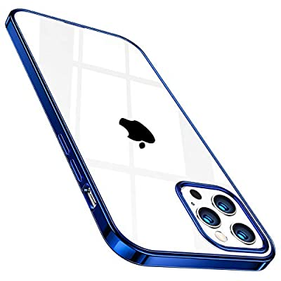 TORRAS Crystal Clear Designed for iPhone 12 Pro Max Case 6.7 Inch 5G (2020 Release), [10X Anti-Yellowing] Ultra Thin Slim Shockproof Flexible TPU Silicone Phone Case, Blue
