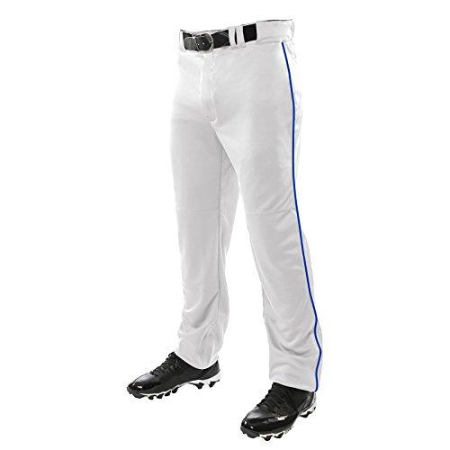 Champro Unisex-Hose für Jugendliche, mit DREI Kronen, offener Unterseite, Weiß, Royal Pipe, XS