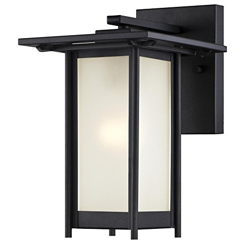 Westinghouse Lighting 6203800 Clarissa 1 Light Outdoor Wall Lantern, Textured Black