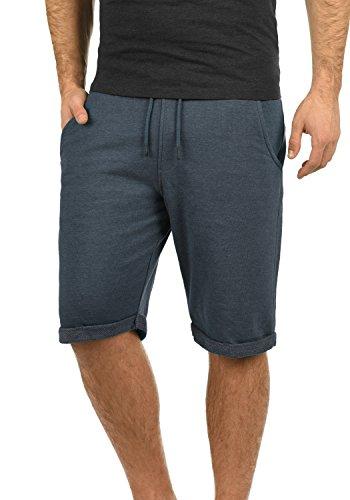 Blend Antique Herren Sweatshorts Kurze Hose Sport-Shorts aus hochwertiger Baumwollmischung Meliert, Größe:XL, Farbe:Mood Indigo (74648)