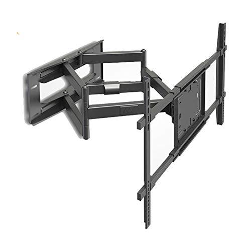 YUNZHI Soporte de Pared para Televisores LED LCD Planos y Curvos de 50-80 Pulgadas, Swivels Tilts Extiende El Soporte de Pared para TV de Movimiento Completo de Doble Brazo Sostiene hasta 90 Kg,Black