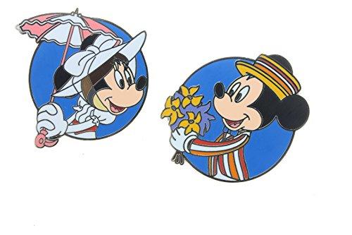 Disney Mickey & Minnie As Mary Poppins & Bert (2 Pin Set)