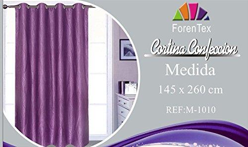 ForenTex - Cortina Opaca (M-1010), Morado, 145 x 260 cm