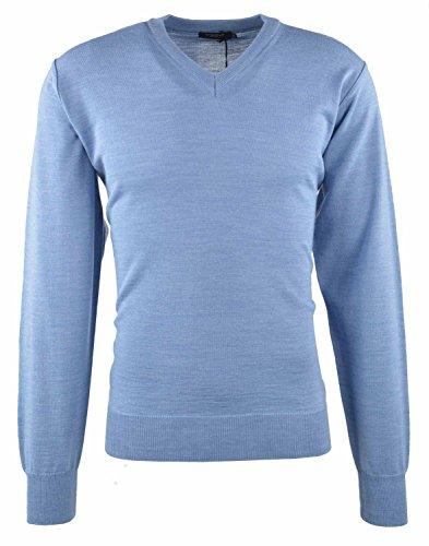 Breidhof Pullover V-Ausschnitt hellblau, Größe:58