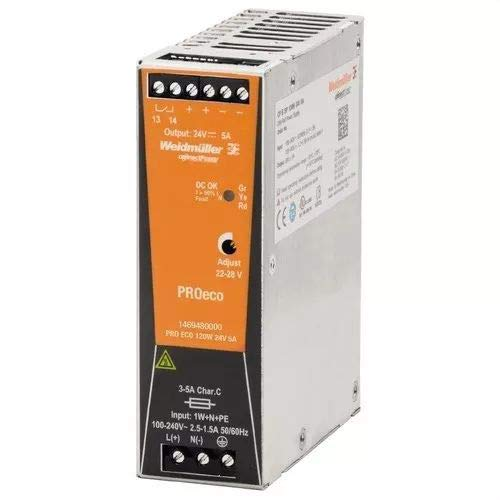 Weidmüller 1469480000 PRO ECO 120W 24V 5A Connect Power PROeco Monofásica
