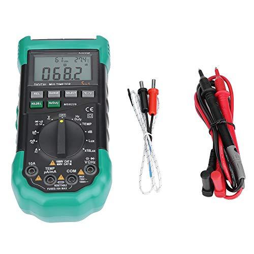 Preisvergleich Produktbild Digitales Mehrfachmessgerät,  MASTECH MS8229 5-in-1 Multifunktions Digitalmultimeter mit automatischem Messbereich 4000 Zählmultimeter,  Temperaturfeuchtetester