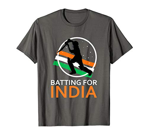 Batting For India - Indian Flag Cricket Fan Tee Shirt T-Shirt