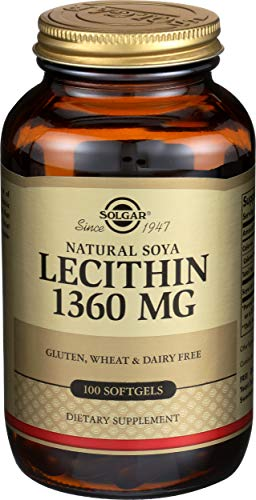 Solgar Soya Lecithin 1360 mg Softgels - Pack of 100